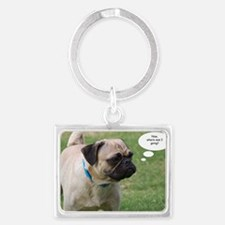 Pug, Now Where Was I Going Birt Landscape Keychain