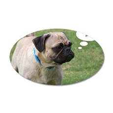 Pug, Now Where Was I Going B 35x21 Oval Wall Decal