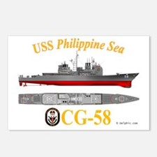 CG-58 USS Philippine Sea Postcards (Package of 8)