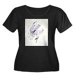 Orchid Women's Plus Size Scoop Neck Dark T-Shirt
