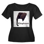 elephant5 Women's Plus Size Scoop Neck Dark T-Shir