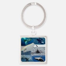 Humpback FRONT not full bleed Square Keychain