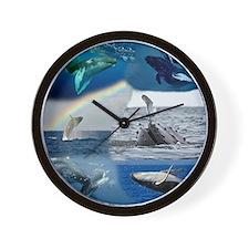 Humpback FRONT not full bleed Wall Clock