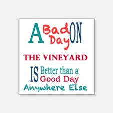 "The Vineyard Square Sticker 3"" x 3"""