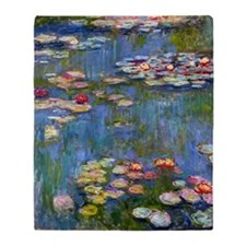 water-lilies- monet large edited Throw Blanket