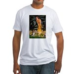 Fairies and Beagle Fitted T-Shirt