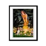 Fairies and Beagle Framed Panel Print