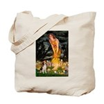 Fairies and Beagle Tote Bag