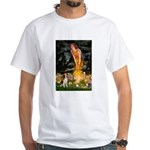Fairies and Beagle White T-Shirt