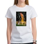 Fairies and Beagle Women's T-Shirt