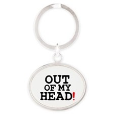 OUT OF MY HEAD! Z Oval Keychain