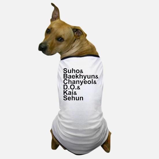 EXO-K Member List Dog T-Shirt
