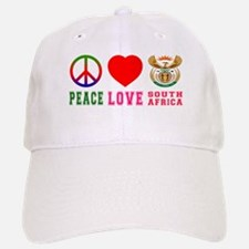 Peace Love South Africa Baseball Baseball Cap