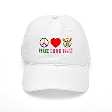 Peace Love South Africa Baseball Cap