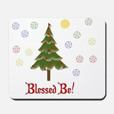 Blessed Be Solstice Tree Mousepad