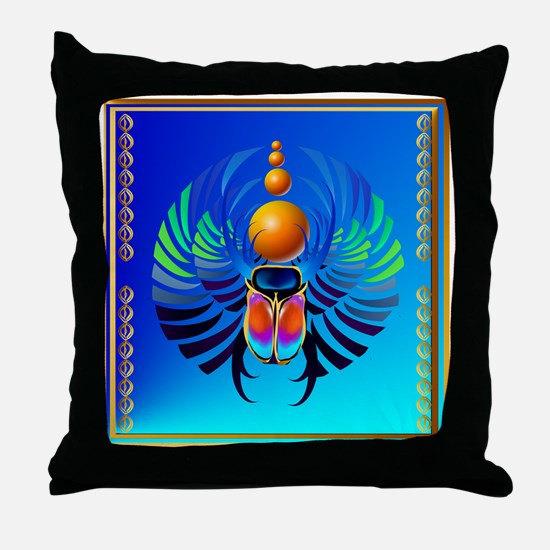Scarab-The Divine Throw Pillow