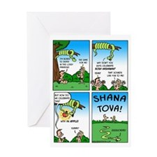 Rosh Hashanah with Adam  Eve Greeting Card