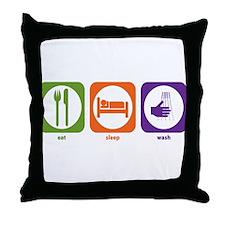 Eat Sleep Wash Throw Pillow