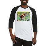 Irises & Beagle Baseball Jersey