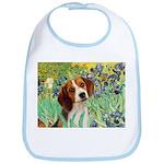 Irises & Beagle Bib