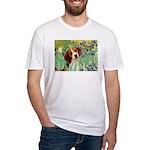 Irises & Beagle Fitted T-Shirt