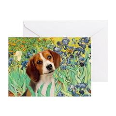 Irises & Beagle Greeting Cards (Pk of 10)