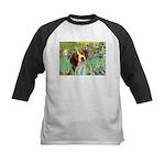 Irises & Beagle Kids Baseball Jersey