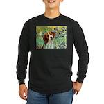 Irises & Beagle Long Sleeve Dark T-Shirt