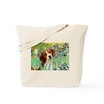 Irises & Beagle Tote Bag