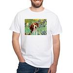 Irises & Beagle White T-Shirt