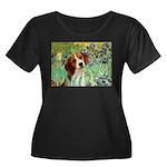 Irises & Beagle Women's Plus Size Scoop Neck Dark