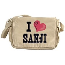 I Love Sanji dark Messenger Bag