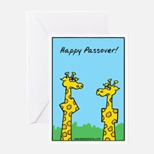 giraffes passover Greeting Card