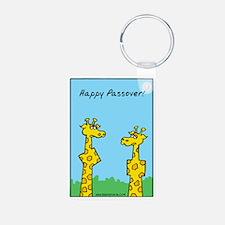 giraffes passover Keychains