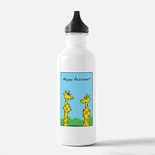 giraffes passover Water Bottle