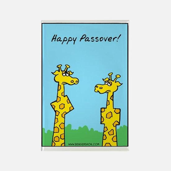 giraffes passover Rectangle Magnet