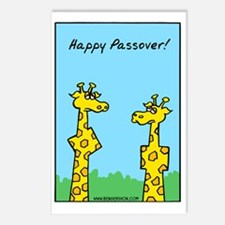 giraffes passover Postcards (Package of 8)