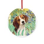 Irises & Beagle Ornament (Round)
