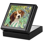 Irises & Beagle Keepsake Box
