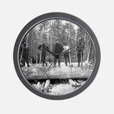 Portrait of Loggers Wall Clock