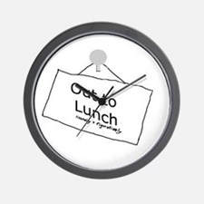 Out to Lunch Wall Clock