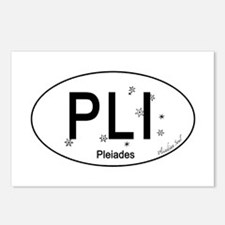 Pleiades White Oval Car S Postcards (Package of 8)