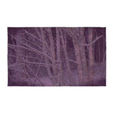 Purple Winter Trees 3'x5' Area Rug
