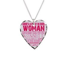 Beast in every woman - Pink C Necklace