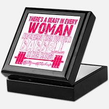 Beast in every woman - Pink Camo Keepsake Box