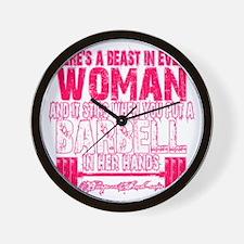 Beast in every woman - Pink Camo Wall Clock
