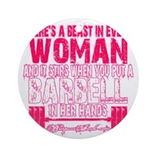 Beast in every woman - Pink Camo Round Ornament