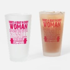 Beast in every woman - Pink Camo Drinking Glass