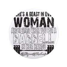 """beast in every woman camo snow 3.5"""" Button"""