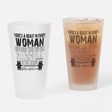 beast in every woman camo snow Drinking Glass